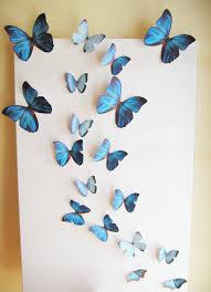 3d Butterfly Wall Decor 18 Butterflies Blue Something Blue Butterfly Paper Wall Decor