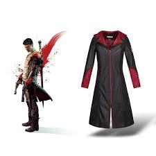<b>Game</b> Devil May Cry Dante DMC5 <b>Cosplay Costume</b> Coat Unisex ...