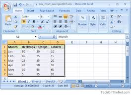 Ms Excel 2007 How To Create A Line Chart