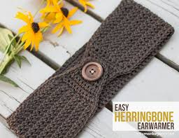 Crochet Ear Warmer Pattern Mesmerizing Easy Herringbone Earwarmer Little Monkeys Crochet