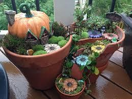 broken pot fairy garden 9