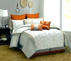 burnt orange and grey comforter set bedding solid with yellow bed sheets gray fascinating sets orange and grey bedding
