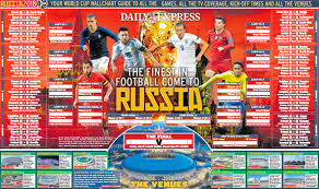 World Cup Planner Chart 2018 World Cup Wall Chart Download Your Russia 2018 Version For