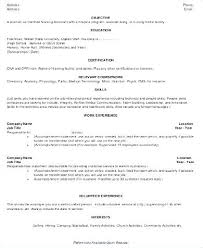 Objective For Certified Nursing Assistant Resume Best of Sample Nursing Assistant Resume Sample Resume Sample Resume