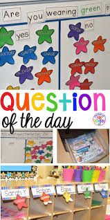 How To Make Children S Day Chart Question Of The Day Pocket Of Preschool
