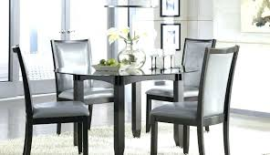 kitchen table and chairs set black table chairs cool rattan brown dark sets black glass and