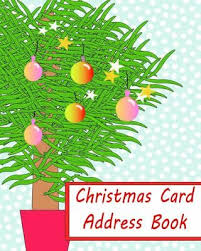 How To Address A Christmas Card Christmas Card Address Book Organise By Christmas Notebooks