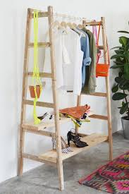 Storage & Organization: Wooden Clothing Rack Ideas - Small Closet