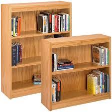 office bookshelves designs. Furniture. Light Brown Wooden Books Shelves Placed On The White Floor. Renew Your House Office Bookshelves Designs E