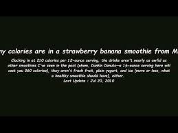 how many calories are in a strawberry banana smoothie from mcdonalds