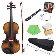 AV 508 <b>4/4 Full Size Acoustic</b> Violin Fiddle Kit Solid Wood Matte ...