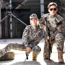 Us 18 76 46 Off Desert Camouflage Suit Paintball Clothing Sets Army Military Uniform Combat Airsoft Uniform Jacket Pants In Hunting Ghillie Suits