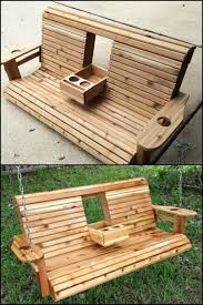 outside swing bench.  Outside Unwind In Your Yard With This DIY Porch Swing Bench Cup Holders In Outside Swing Bench I