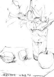 ブログ美術館 百合の水彩画 田熊 順 塗り絵で癒し 風景画 花の絵