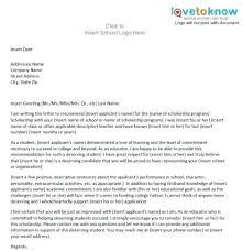 Scholarship Recommendation Letter From Teacher Co Reference Template