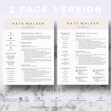 Professional Resume Cv Template For Ms Word Mac Pages Resume Cv