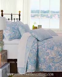paisley aqua blue turquoise teal fl quilt set pillow shams waves of sea glass colors view images