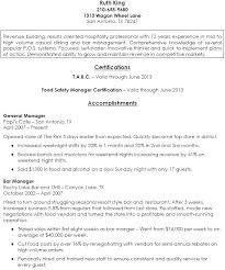 Restaurant Manager Resume Samples Pdf Job Resume Job Resume Simple Bar Manager Resume