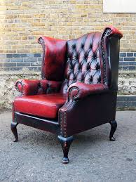 beautiful scottish ox blood leather queen by majeurschesterfield 380 00 living room levities in 2019 queen anne chair furniture chair