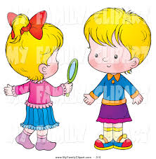 child looking in mirror clipart. clip art of a pair little blond girls, one holding hand mirror child looking in clipart i
