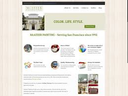 mcateer painting website design for painting companies
