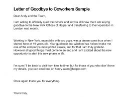 letter of goodbye to coworkers sample 292 0