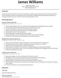 Sample Resume For Truck Driver Download Truck Driver Resume Samples DiplomaticRegatta 12