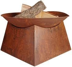 Amazon Com Esschert Design Rust Fire Bowl Garden Outdoor