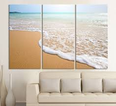 large wall art wave on the beach canvas print 3 panel wall art canvas  on 3 panel wall art beach with large wall art wave on the beach canvas print 3 panel wall art