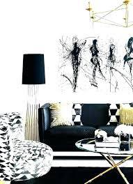 black white and gold living room decor