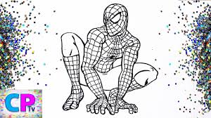 72 spiderman printable coloring pages for kids. Glitter Spiderman Coloring Pages How To Creat Picture Of Spiderman With Glitter Layered On It Youtube