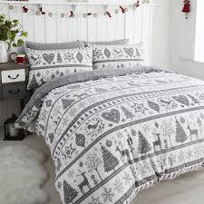 bed linen uk awesome noel grey quilt cover sets festive duvet home design ideas 1