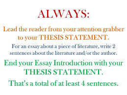 essay introductions attention grabbers startling information  always lead the reader from your attention grabber to your thesis statement