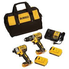 dewalt impact drill. impact driver and drill - lithium-ion 20 v yellow/black dewalt