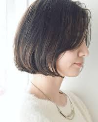 ショートヘアのアレンジ丸顔など顔の形別パーマ前髪なしなど似合う