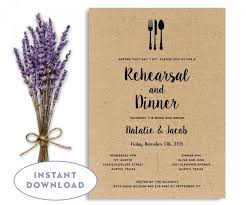 Rehearsal Dinner Invitation Template Wedding Rehearsal Editable Stunning Invitation Template Word