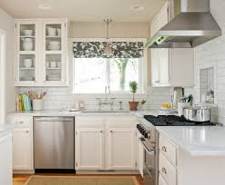 Decorating A White Kitchen Traditional White Kitchen Backsplash Ideas With Dining Table And