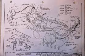 1970 corvette vacuum hose routing corvetteforum chevrolet 1970 Corvette Vacuum Diagram also you'll have the washer hoses running forward with the rest of the headlight hoses are you really working on one of these cars without an aim and a 1970 corvette vacuum diagram