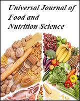 Hrpub Universal Journal Of Food And Nutrition Science