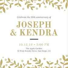 Anniversary Template Customize 1 796 50th Anniversary Invitation Templates Online Canva