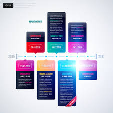 Vector Timeline Template On White Background. Eps10 Royalty-Free ...