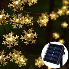 Snowflake Solar Christmas Lights Amazon Com Chasgo 30ft 50 Led Christmas Lights Outdoor