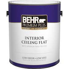Behr Premium Plus 1 Gal White Flat Ceiling Interior Paint 55801 Home Depot Paint