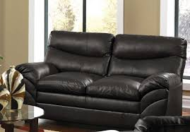 soho onyx bonded leather loveseat