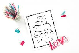 Color in this picture of cupcakes and others with our library of online coloring pages. Printable Cupcake Coloring Pages 20 Different Pages Fun Happy Home