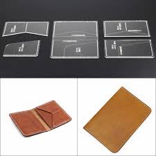 Free Leather Templates Donyamy 1set Diy Leather Passport Holder Templates Clear Acrylic Leather Pattern Handcraft Craft