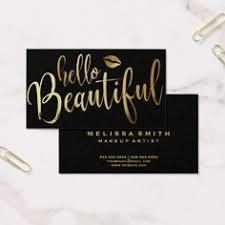 o beautiful makeup artist business card zazzle