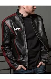 mass effect 3 n7 black leather jacket
