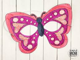 Coloring is the application of colors on a surface that is done through many ways. Free Printable Butterfly Mask Template Coloring Page Simple Mom Project