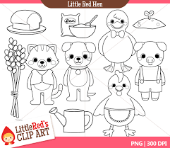 Small Picture Image Gallery of Little Red Hen Characters Printables
